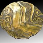 cast bronze bowl + home furnishings + art object