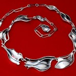 fabricated sterling silver necklace