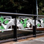fabricated and cast aluminum transit station art railings