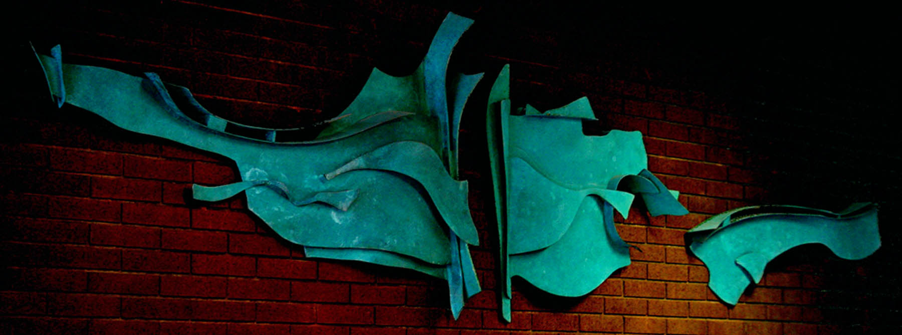 fabricated bronze wall abstract scultpure