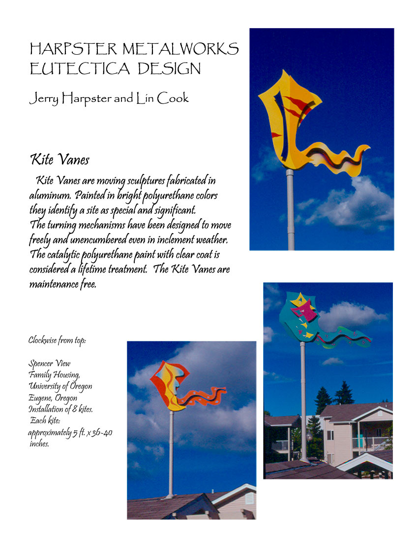 Kitevanes: aluminum moving wind vanes