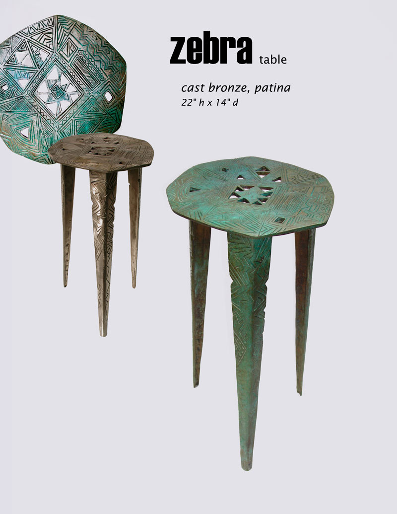 cast bronze table