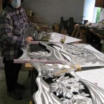 Texturing and cleaning up Aluminum panels for LTD transit Project.....