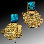 cast 14kt. with turquoise